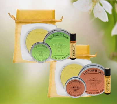 Lotion Gift Bag 4 Piece Set | Soap Gifts | Honey House Naturals