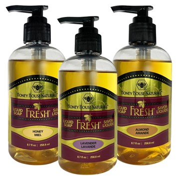 Bee Fresh Liquid Soap - 7oz | Best Foot Lotion & More | Honey House Naturals