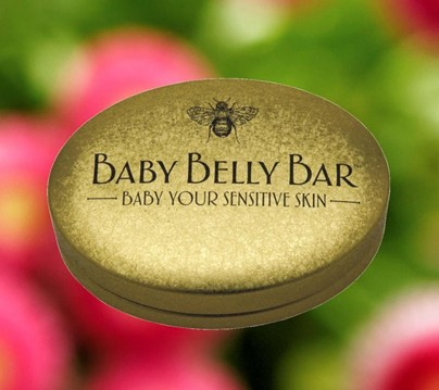Lotion Baby Belly Bar (1.7 oz) | Beeswax Lotion & Shea Butter Lotion | Honey House Naturals