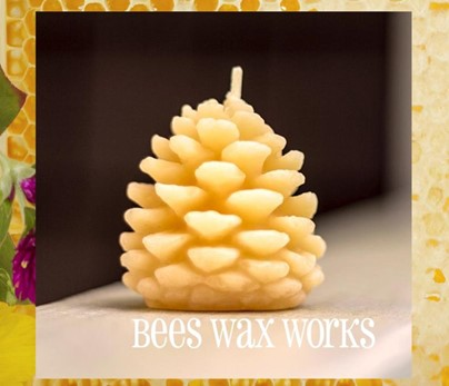 Beeswax Wee Pinecone | Beeswax Candles | Honey House Naturals