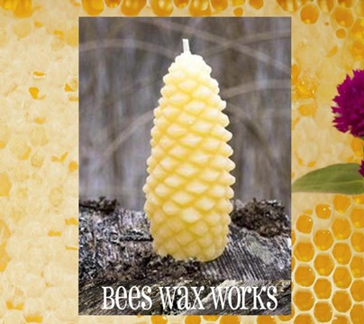 Beeswax Fir Cone | Beeswax Candles | Honey House Naturals