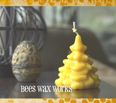 Beeswax Spruce Tree | Beeswax Candles | Honey House Naturals