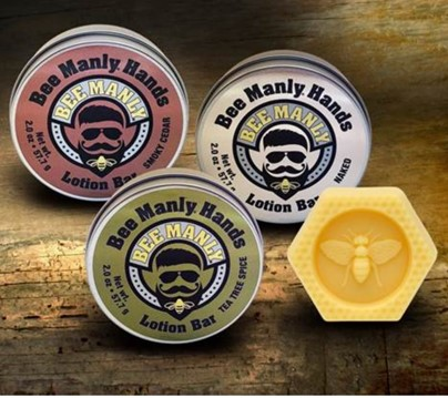 Bee Manly Hands-Men's Bee Bar