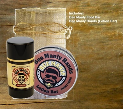 Bee Manly Hands and Feet Gift Set| Best Foot Bar | Honey House Naturals
