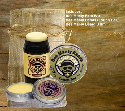 Bee Manly Gift Set| Best Beard Balm | Honey House Naturals