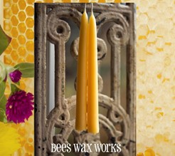 Beeswax Tapers/2 10""