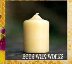 Beeswax Pillar 2""