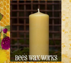 Beeswax Pillar 5""